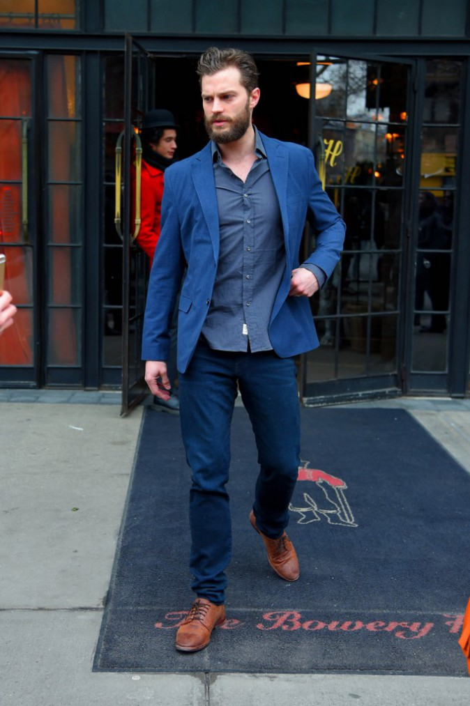 Photos : Fifty Shades Of Grey J-2... Jamie Dornan, plus sexy que jamais, part à l'assaut de ses fans !