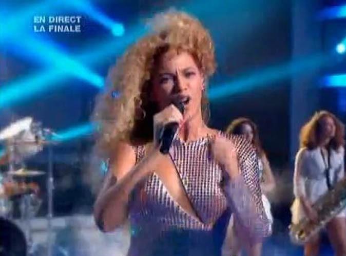 Beyoncé sur le plateau de X-Factor, le 28 juin 2011.