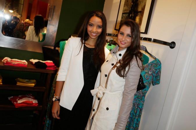 Photos : Flora Coquerel et Malika Ménard : toujours inséparables, les ambassadrices de beauté inaugurent le Pop Up Store Charriol !
