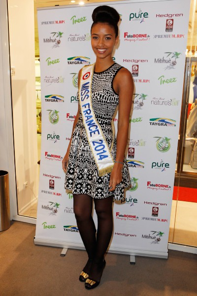 "Flora Coquerel lors de la ""Mituhe Party by Taygra Brazil"" à Paris, le 6 mars 2014."