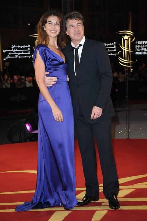 François Cluzet et sa femme Narjiss hier soir à Marrakech !
