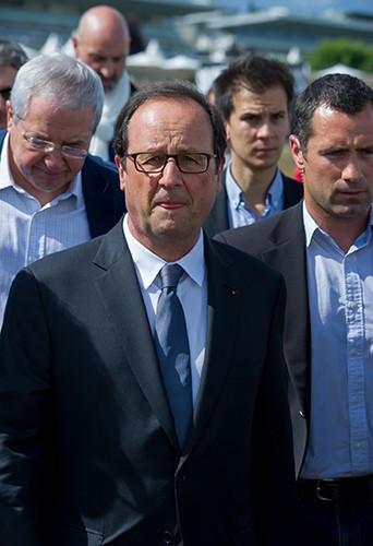 François Hollande à l'Hippodrome de Longchamp le 29 juin 2014