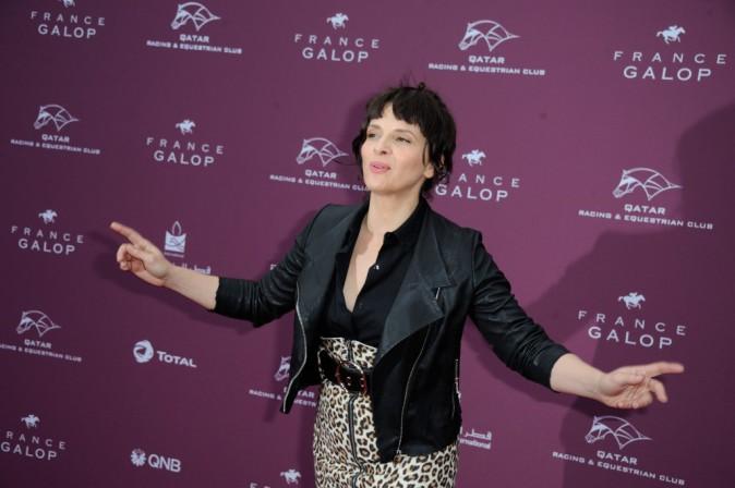 Juliette Binoche au Qatar Prix de l'Arc de Triomphe !