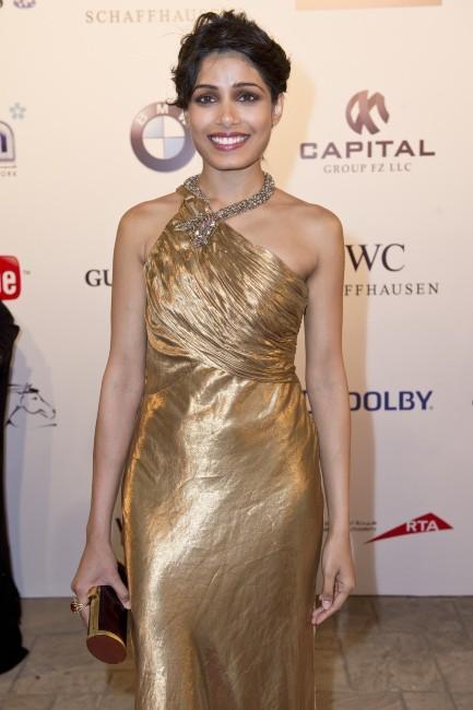 Freida Pinto lors du Festival international du film de Dubaï, le 9 décembre 2012.