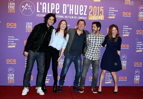 Festival de l'Alpe d'Huez 2015 : Max Boubil, Ana Girardot, Gad Elmaleh, Manu Payet, Sylvie Testud