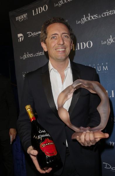 Gad Elmaleh lors de la soirée des Globes de Cristal à Paris ,e l 10 mars 2014.