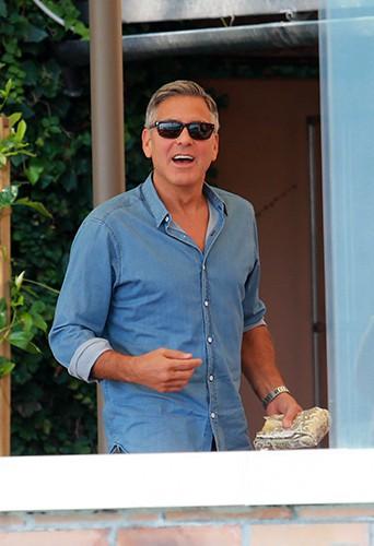 George Clooney à Venise le 27 septembre 2014