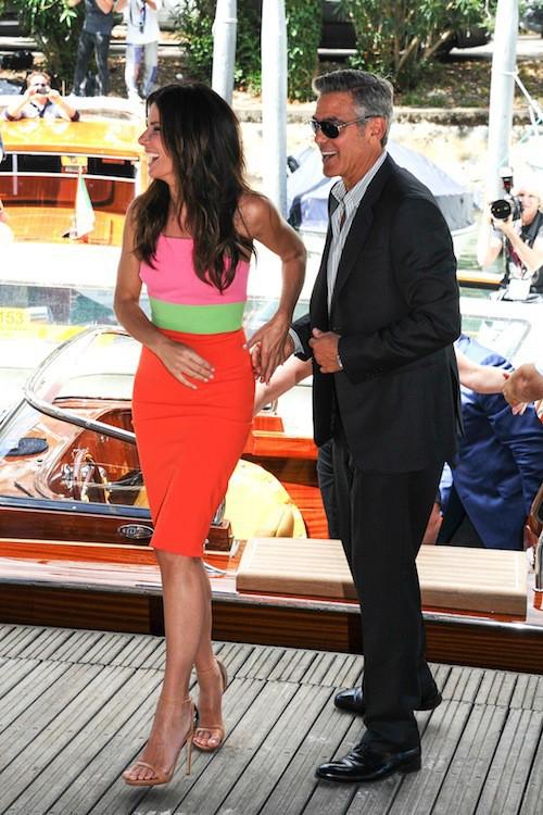 Photos : George Clooney et Sandra Bullock : un couple idéal à Venise !