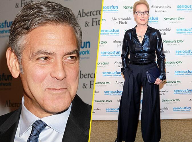Photos : George Clooney : il troque Amal avec Meryl Streep, le temps d'une soirée !