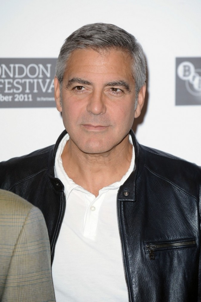 George Clooney lors du photocall du film The Descendants à Londres, le 20 octobre 2011.