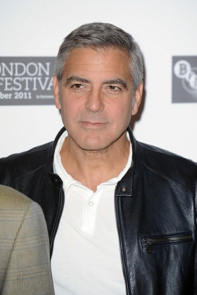 George Clooney lors du photocall du film The Descendants à Londres, le 20 octobre 2011.