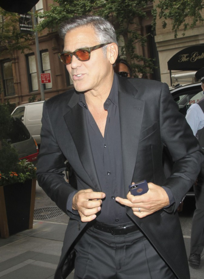 George Clooney à New York le 9 octobre 2014