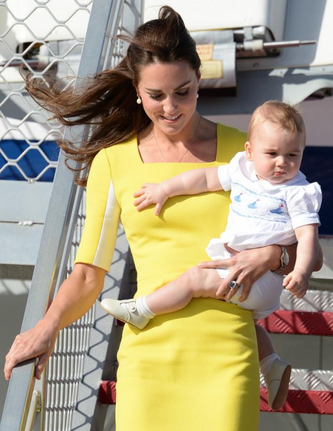 Le prince George lors du voyage en Nouvelle Zélande et Australie de Kate et William