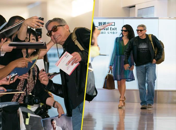 Photos : George et Amal Clooney : détendus et amoureux pour leur arrivée au Japon !