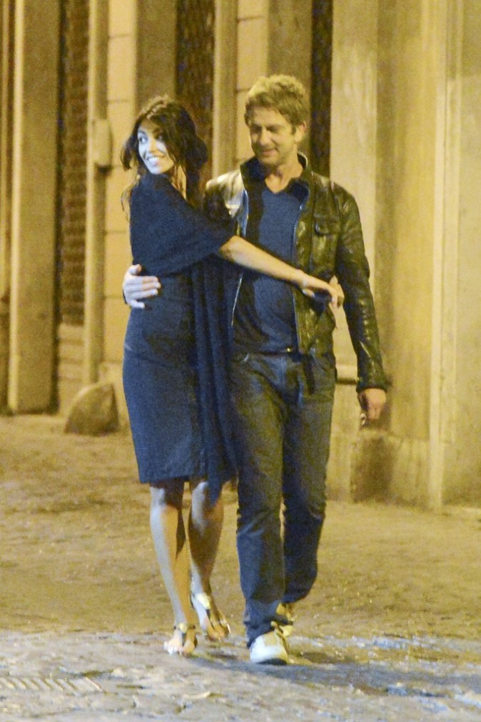 Gerard Butler et Madalina Ghenea, Rome, 24 juin.