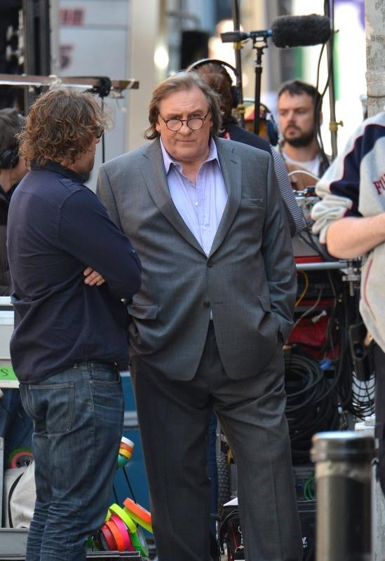 Gérard Depardieu sur le tournage du biopic dédié à DSK