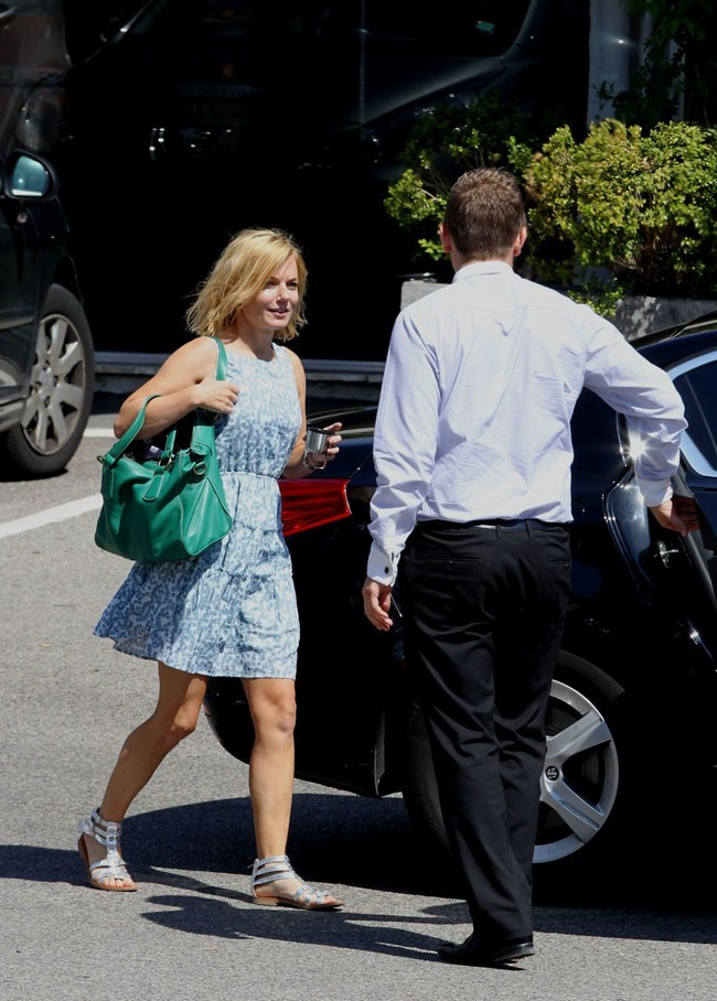 Geri Halliwell le 20 août 2012 à Grasse