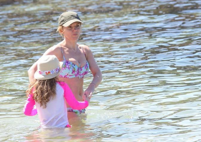 Geri Halliwell à Sydney avec sa fille Bluebell le 23 septembre 2013