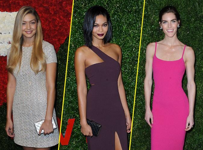 Gigi Hadid, Chanel Iman, Hilary Rhoda : guerre de tops en soir�e VIP !
