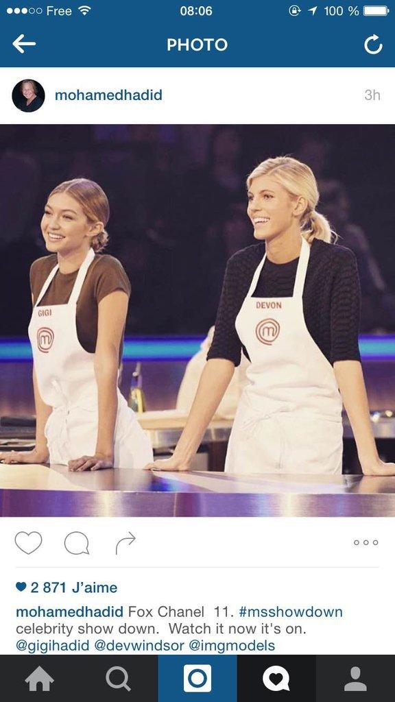 Gigi Hadid Master chef