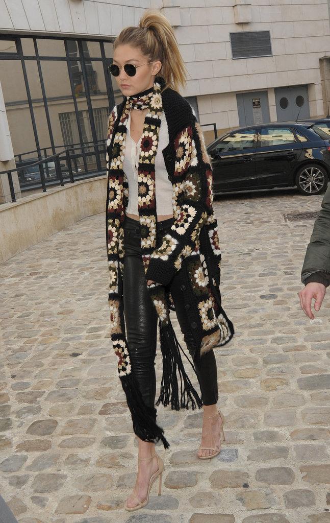 Gigi Hadid à Paris, le 20 janvier 2016
