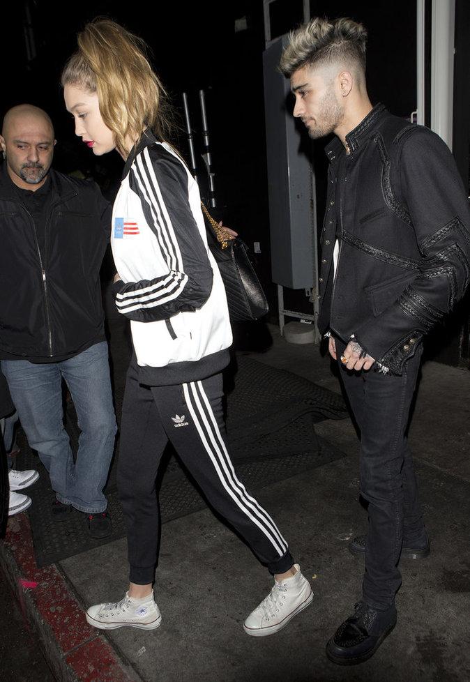 Gigi Hadid et Zayn Malik à la sortie du Nice Guy à Los Angeles