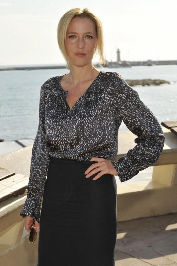 Gillian Anderson, Cannes, 8 octobre 2012.