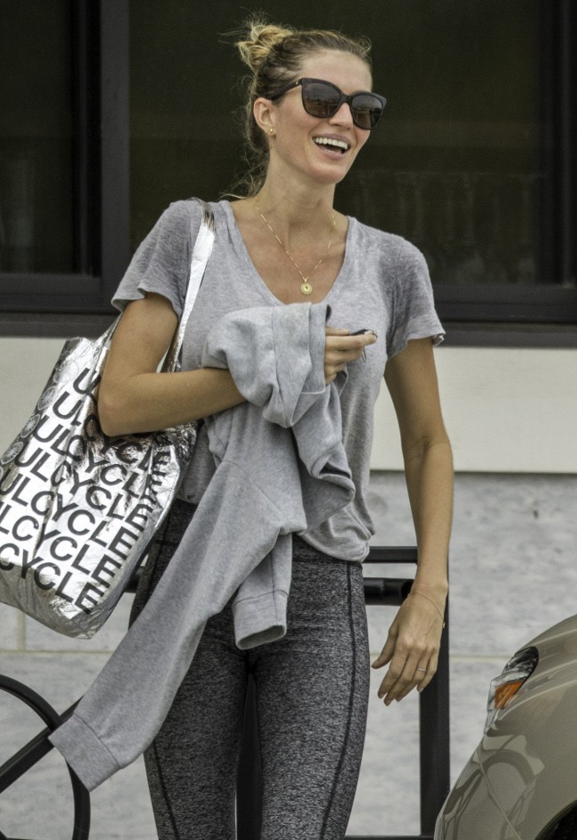 Gisele Bündchen à Boston le 22 septembre 2015