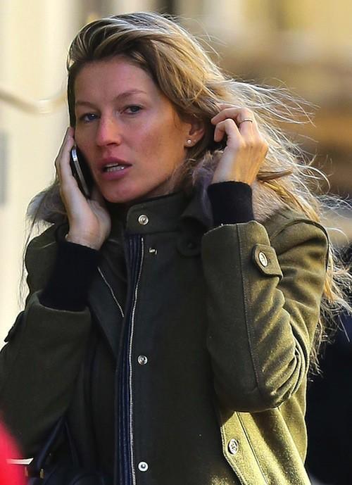 Photos : Gisele Bündchen : tristounette et sans maquillage !