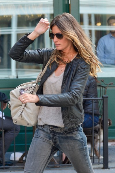 Gisele Bundchen et ses enfants, New York le 14 avril 2013