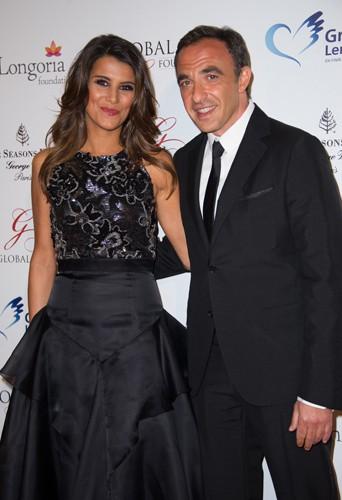Karine Ferri et Nikos Aliagas à Paris le 12 mai 2014