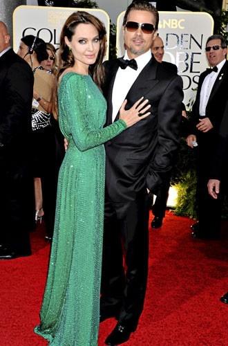 Golden Globes 2011 : le couple de starsAngelina Jolie et Brad Pitt