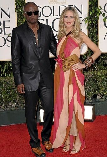 Golden Globes 2011 : le couple de stars Heidi Klum et Seal