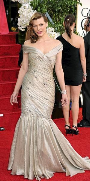 Golden Globes 2011 : le look de Milla Jovovich