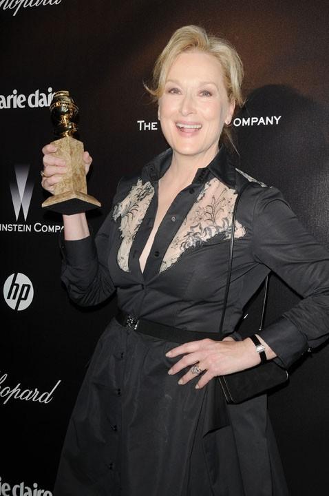 Meryl Streep, récompensée pour son rôle dans The Iron Lady