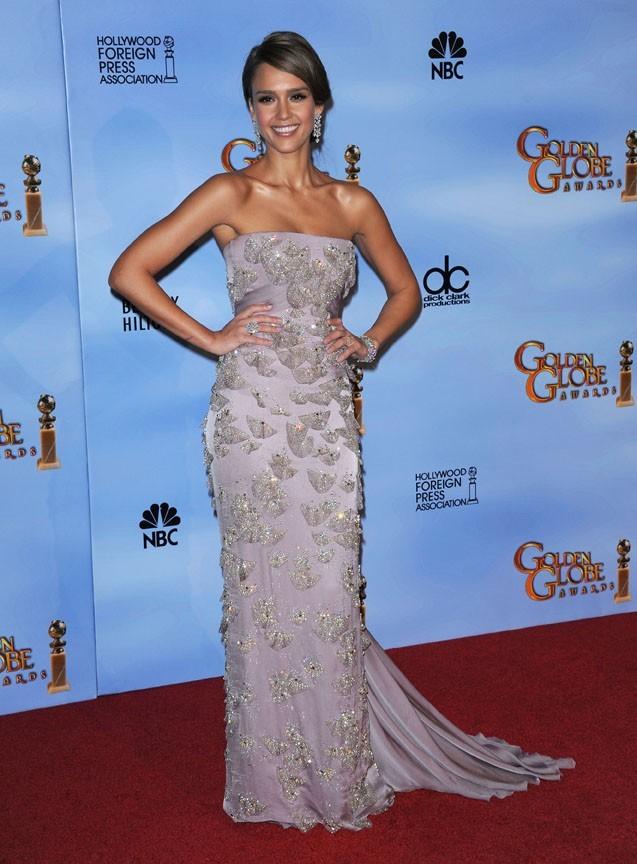 En Gucci sur le tapis des Golden Globes !