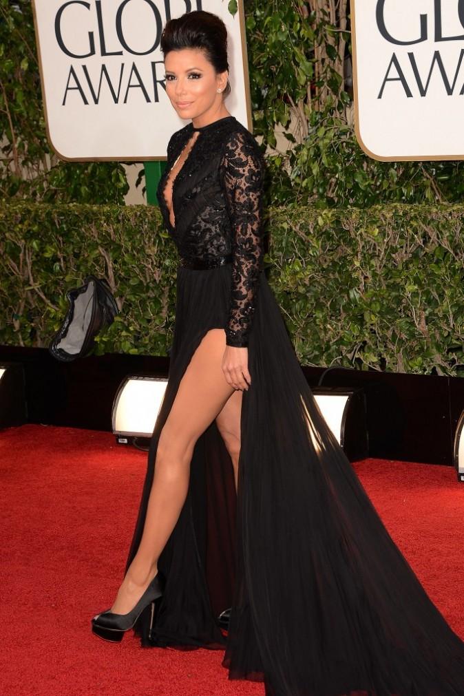 Eva Longoria lors de la 70e cérémonie des Golden Globes à Los Angeles, le 13 janvier 2013.
