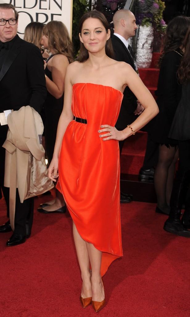 Marion Cotillard lors de la 70e cérémonie des Golden Globes à Los Angeles, le 13 janvier 2013.