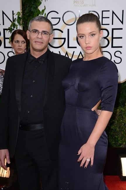 Abdellatif Kechiche et Adèle Exarchopoulos lors de la cérémonie des Golden Globes à Beverly Hills, le 12 janvier 2014.