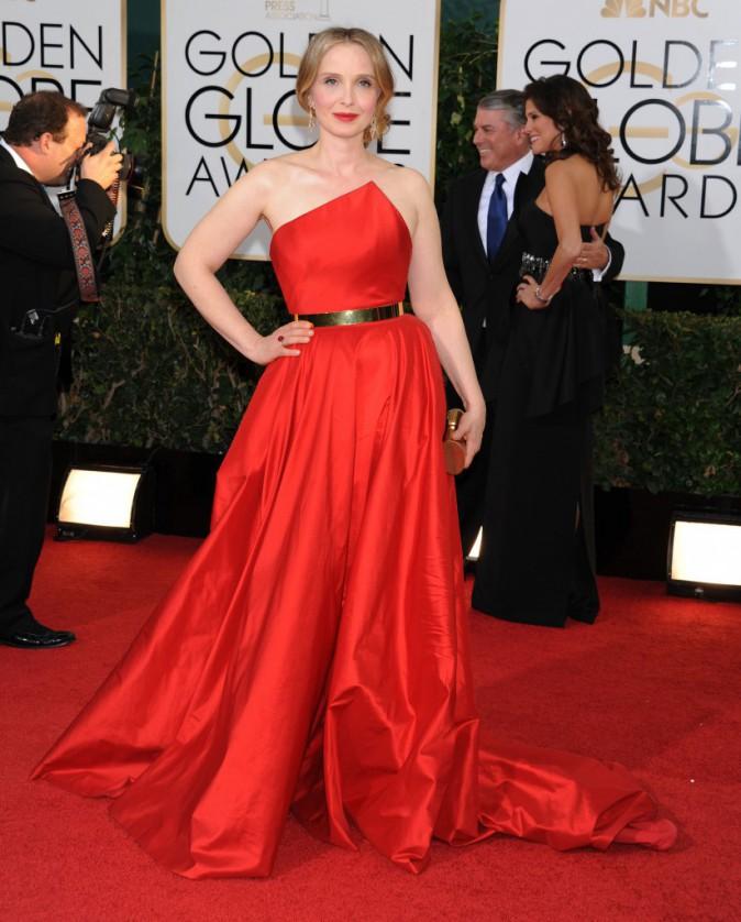 Julie Delpy lors de la cérémonie des Golden Globes à Beverly Hills, le 12 janvier 2014.
