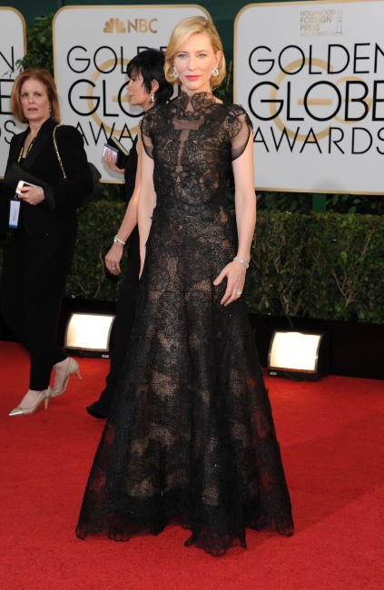 Cate Blanchett lors de la cérémonie des Golden Globes à Beverly Hills, le 12 janvier 2014.