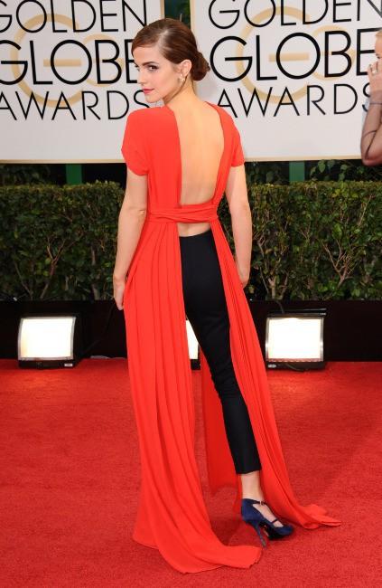 Emma Watson lors de la cérémonie des Golden Globes à Beverly Hills, le 12 janvier 2014.
