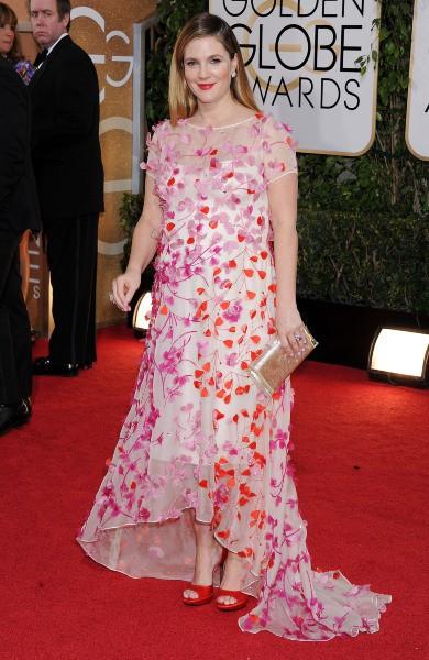 Drew Barrymore lors de la cérémonie des Golden Globes à Beverly Hills, le 12 janvier 2014.