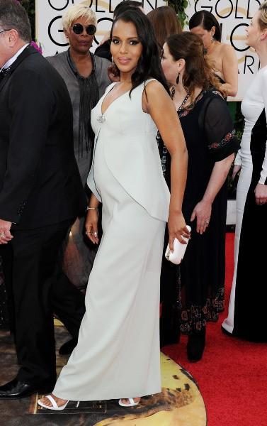 Kerry Washington lors de la cérémonie des Golden Globes à Beverly Hills, le 12 janvier 2014.