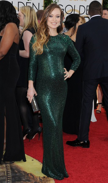 Olivia Wilde lors de la cérémonie des Golden Globes à Beverly Hills, le 12 janvier 2014.