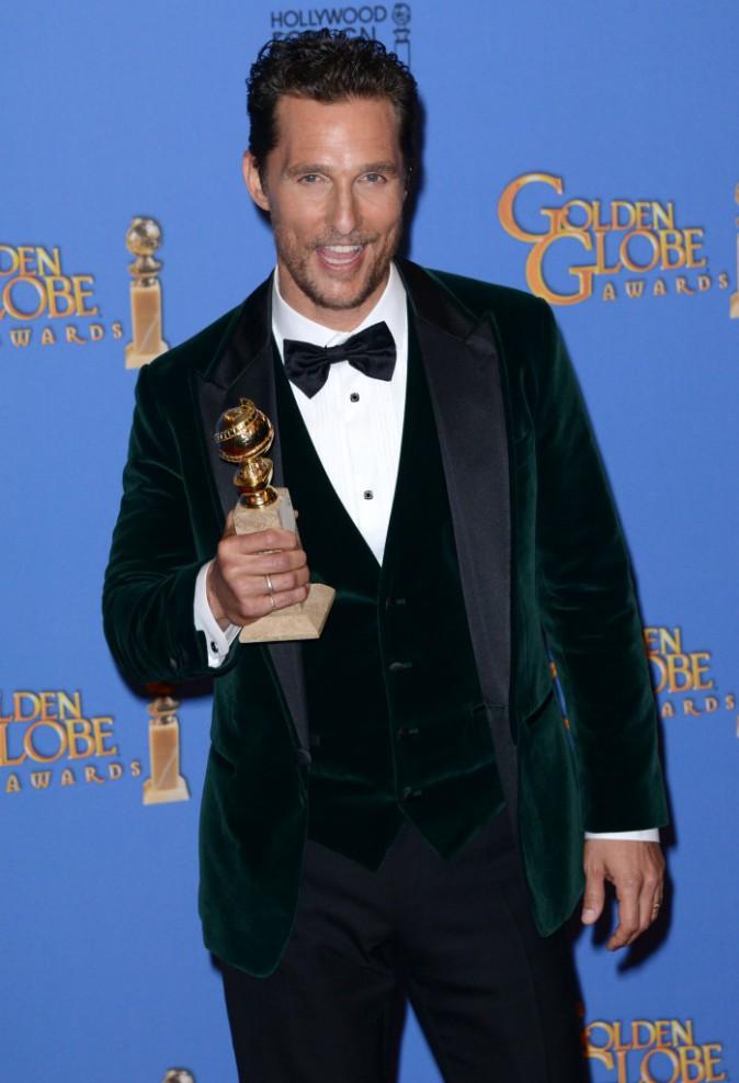 Matthew McConaughey lors de la cérémonie des Golden Globes à Beverly Hills, le 12 janvier 2014.