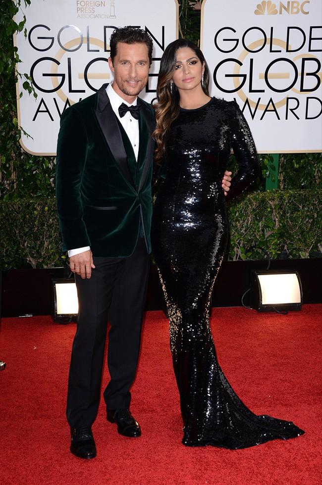 Matthew McConaughey et Camila Alves à la cérémonie des Golden Globes 2014