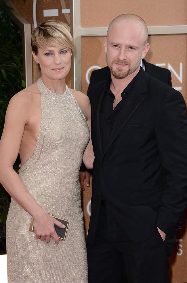 Robin Wright et Ben Foster à la cérémonie des Golden Globes 2014
