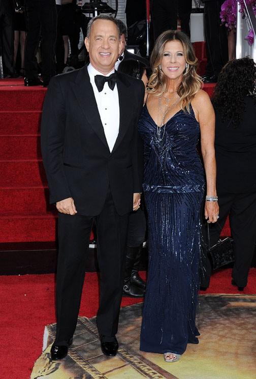 Tom Hanks et wife Rita Wilson à la cérémonie des Golden Globes 2014