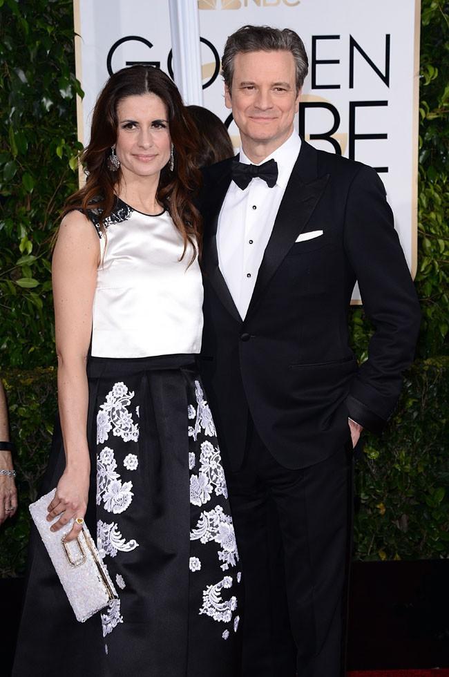 Colin Firth et Livia Giuggioli